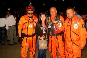 Con el grupo de rescate Los Topos se hicieron presentes