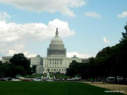 United States Capitol. The statue on top is called Statue of Freedom. Here is where the congress stands.